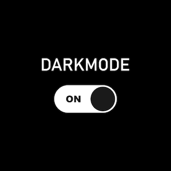 Turn on dark mode. dark theme on your device or site. dark mode toggle switch. vector eps 10