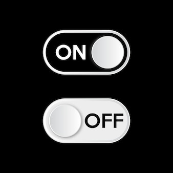 Turn on dark mode. on and off toggle switch button.