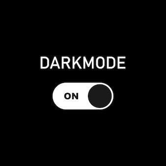 ダークモードをオンにします。デバイスまたはサイトのダークテーマ。ダークモードトグルスイッチ。ベクターeps10