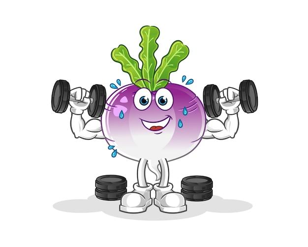 Иллюстрация тренировки веса репы