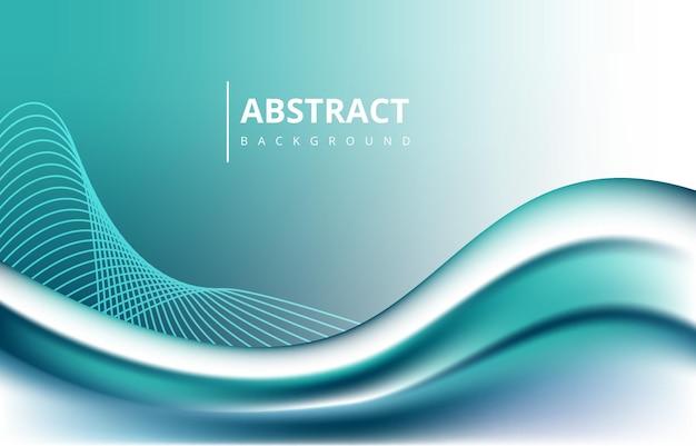 Бирюзовые абстрактные волны линии градиент текстуры фона обои графический дизайн