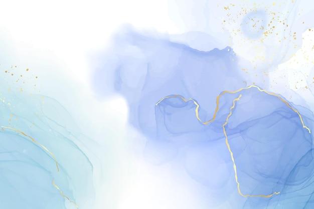 ターコイズとティールブルーの液体の水彩画の背景