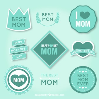 Turquoise best mom badges