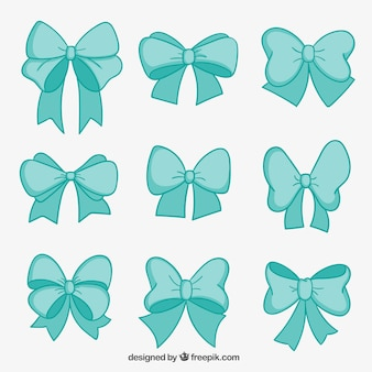 Turquoise bows collection