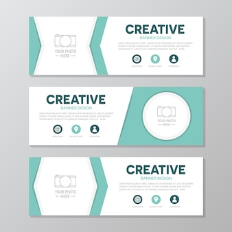 Turquoise business banner