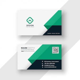 Turquoise business card   template