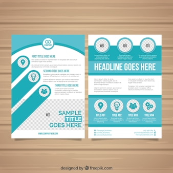 Turquoise business flyer template