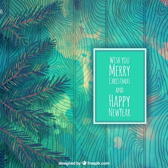 Turquoise christmas background
