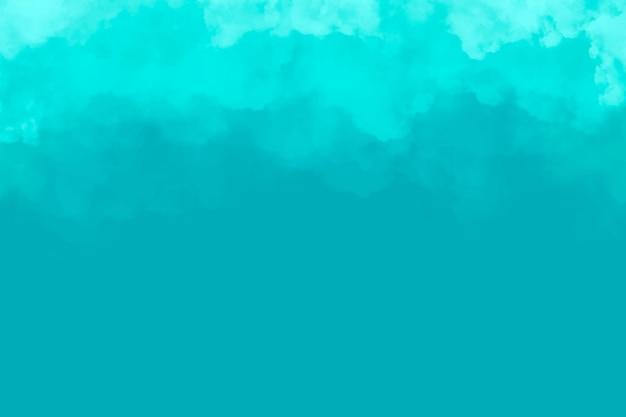 Бирюзовый фон облака