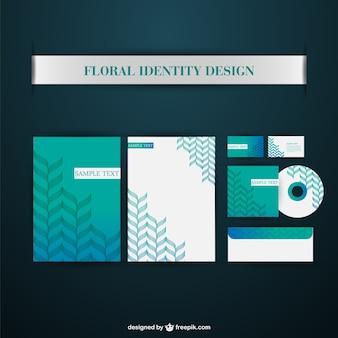 Turquoise corporate identity elements