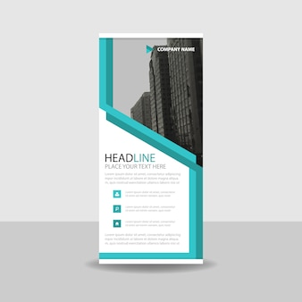 Turquoise creative roll up banner