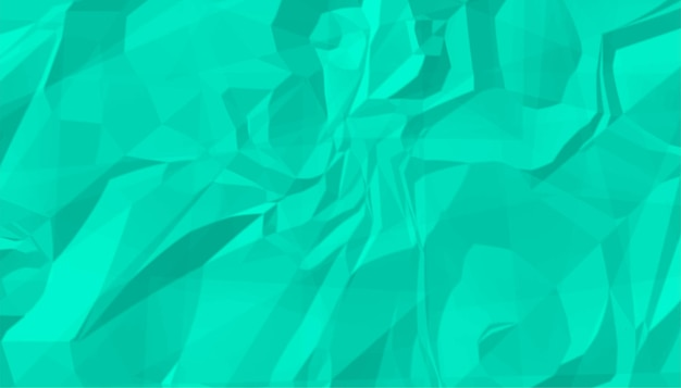 Turquoise crumpled wrinkled paper texture background