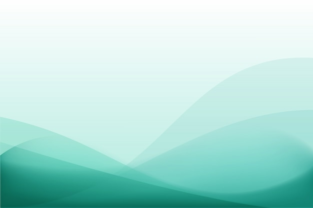 Turquoise curve abstract background