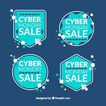 Etichette turchese cyber monday