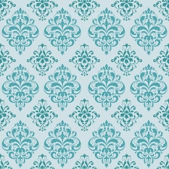 Turquoise elegant pattern