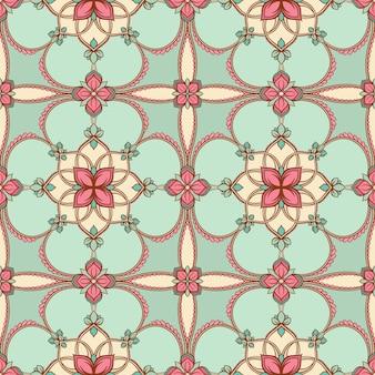 Бирюзовый цветочный узор