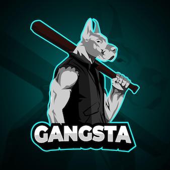 Turquoise gangsta dog e sport logo
