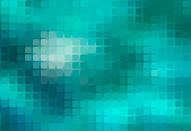 Turquoise green abstract rounded mosaic background
