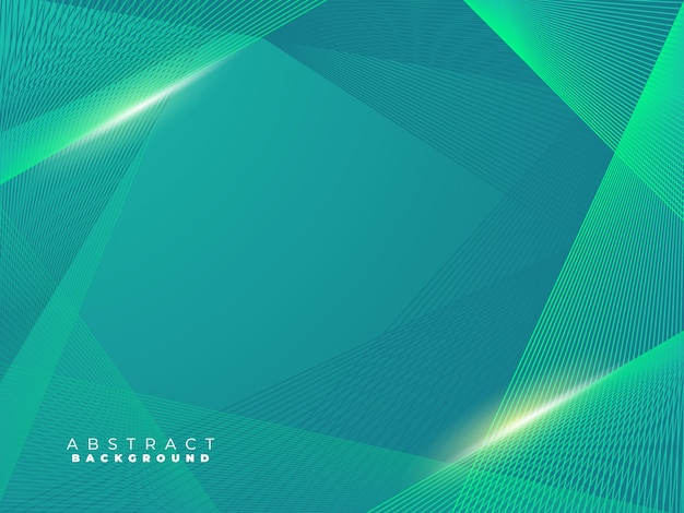 Turquoise green creative lines background