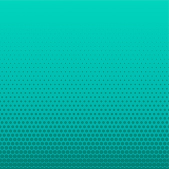 Turquoise halftone dots empty background
