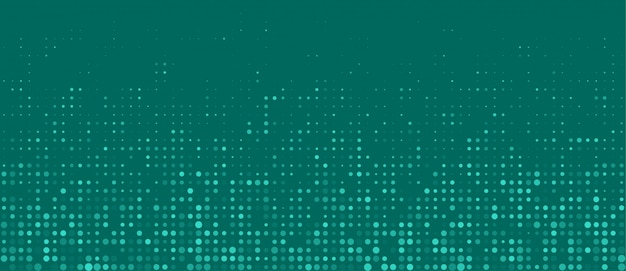 Turquoise halftone dots empty banner background