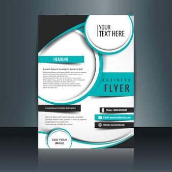 Turquoise modern brochure Free Vector
