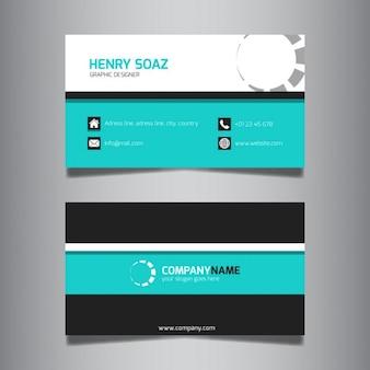 청록색 현대 비즈니스 카드