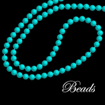 Turquoise necklace of pearls.