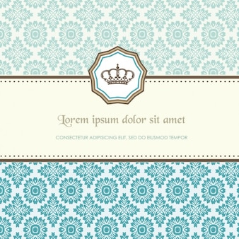 Turquoise pattern template