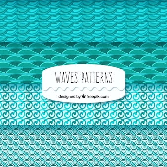 Turquoise patterns with wavy shapes