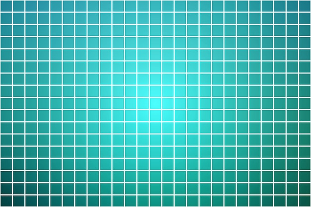 Turquoise shades square mosaic over white