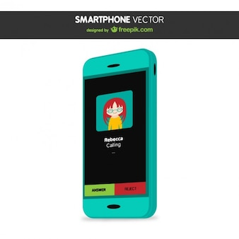 Turquoise smartphone