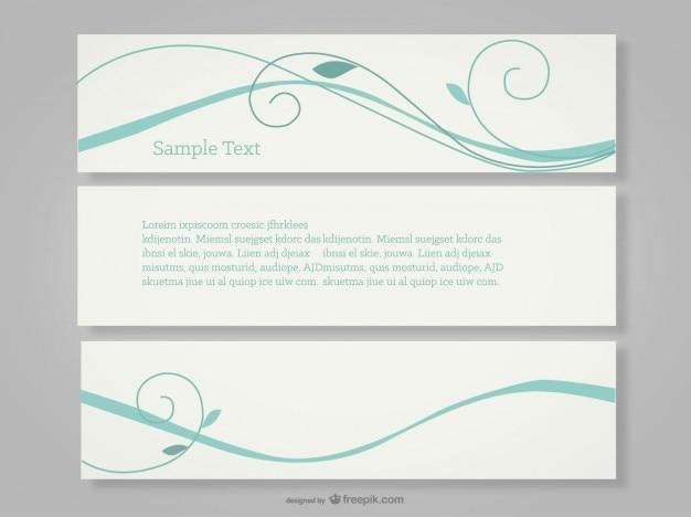 Banner swirly libero vettore di disegno semplice
