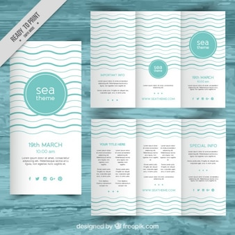 Turquoise trifold business template