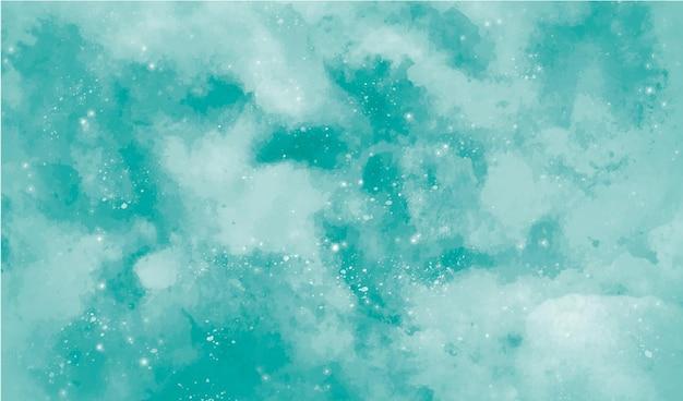 ターコイズの水彩画の背景