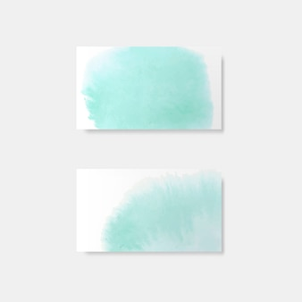 Turquoise watercolor style card vector