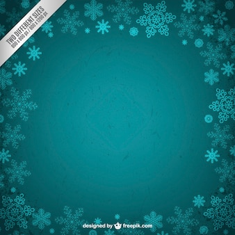 청록색 겨울 프레임