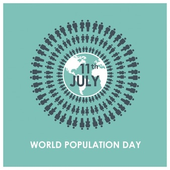 Turquoise world population day background