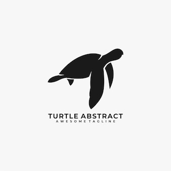 Turtle abstract logo