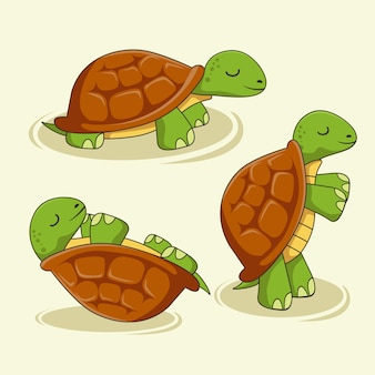 Turtle cartoon cute animals