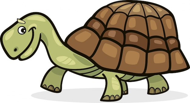 Иллюстрация черепахи мультфильм Premium векторы
