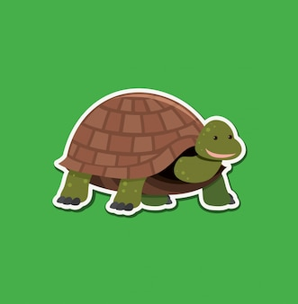 A turtle character sticker