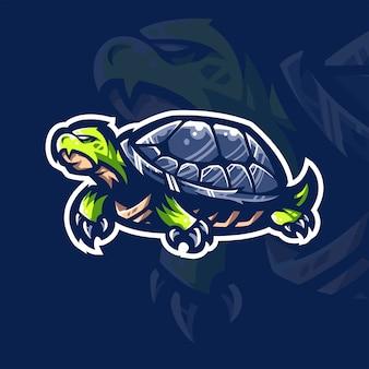 Шаблон логотипа команды черепахи киберспорта