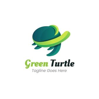 Turtle gradient logo template
