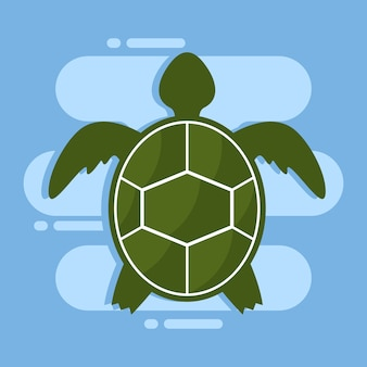 Turtle illustration design template