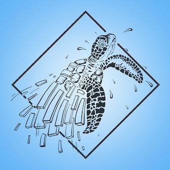거북이 선 로고 개념