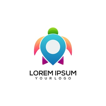 Turtle logo colorful illustration