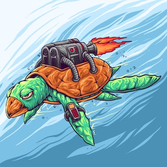 Turtle machine with funny color