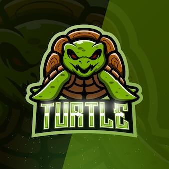 Turtle mascot esport illustration