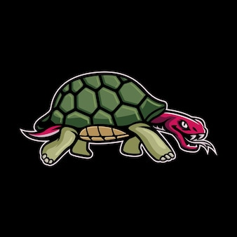 Turtle mascot logo vector illustration Premium Vector